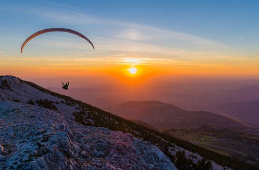 Paragleiten am Mont Ventoux © Verneuil Teddy