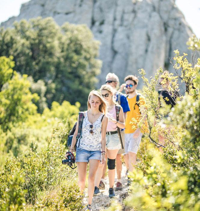 Wanderung in den Dentelles de Montmirail © O'Brien Thomas