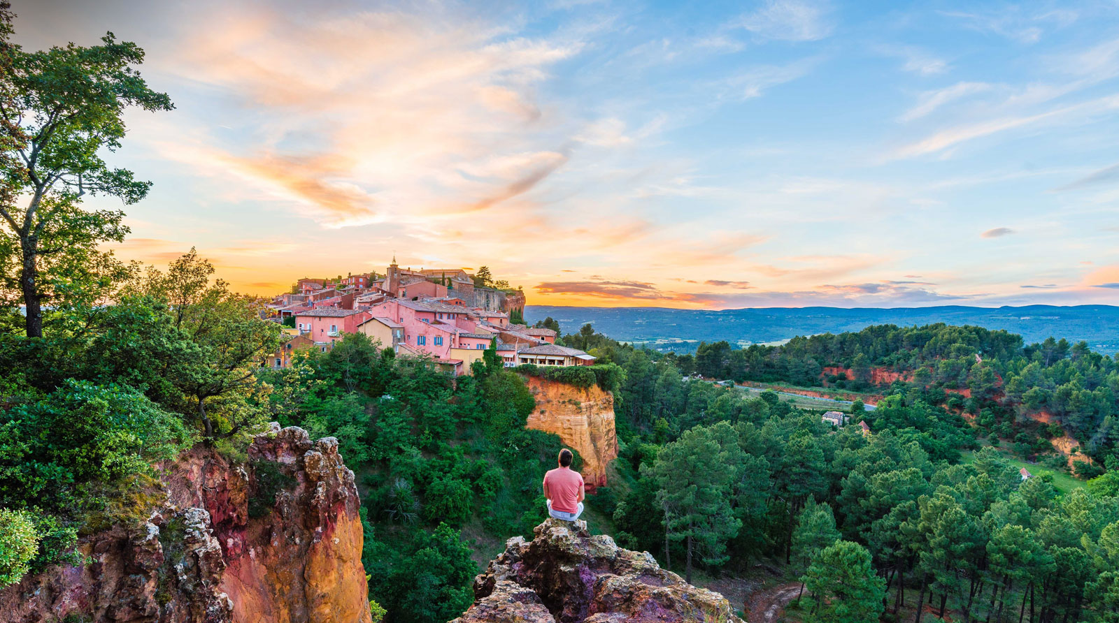 Village de Roussillon en Vaucluse