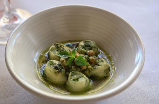 Vegetarisches Gericht im Restaurant Le Phébus @ Hocquel