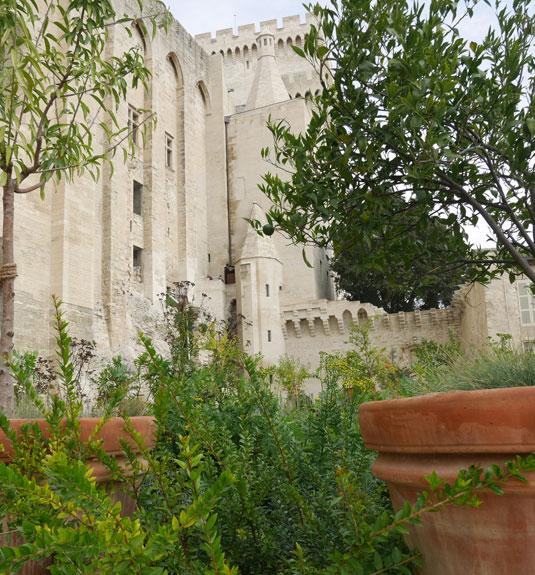 Garten von Urban V. im Papstpalast