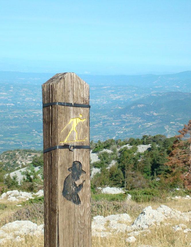 Jean-Henri-Fabre-Weg am Mont Serein